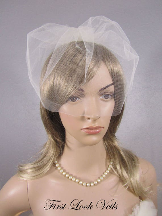 Birdcage Veil, Ivory Tulle Cage Veil, Tulle Birdcage Veil, Pink Short Veil, black Wedding Vail, Bridal Veil, Viel, White Bridal Accessory