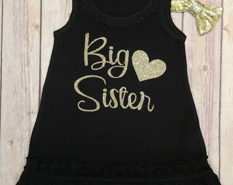 Big Sister Dress, Big Sister, New Big Sister, Big Sister, Baby Announcement, New Baby Announcement