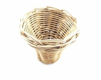 Basket Cherokee Made Double Woven Mini Vase Tsalagi