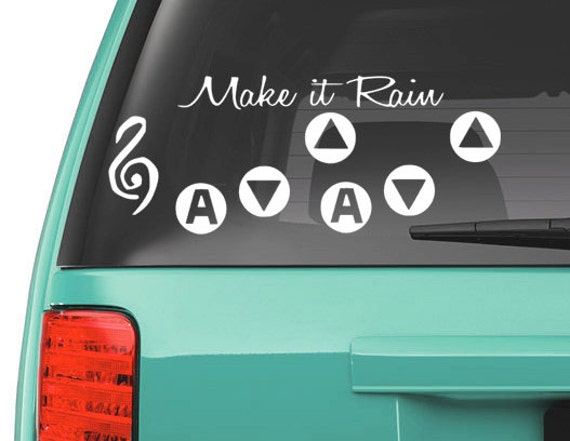 Zelda song of storms vinyl decal ocarina of time link