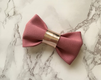 Felicity Bow in Dusty Pink