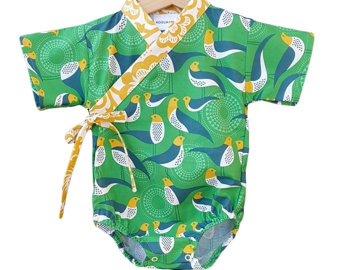 Baby Kimono - GREEN AVIARY - Baby outfit - cool baby clothes japanese jinbei