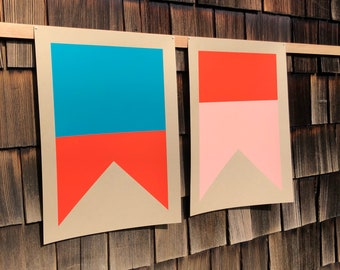 Nautical Signal Flag Set / Silkscreen Prints