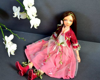 Collectible doll, Fairy Doll, Art doll, OOAK doll, Hand made doll, Craft Doll, alice in wonderland