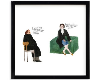 """Court Staff, Lawyer Limited Edition Archival Prints by Simon Schneiderman Framed 18"""" x 18"""""""