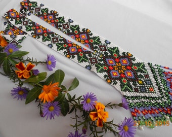Gerdan.Ethnic bead necklace,  beaded jewelry, handmade jewellery,  bead necklaces, Ukrainian Gerdan