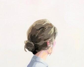 """hair art - bun print - """"Bun 1"""""""