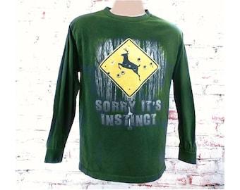 novelty hunters shirt -Hunting season T Shirt -boyfriend hunter shirt -hunting Dad shirt -unique novelty T shirt --men  size L (large) # 15