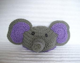 Baby Elephant hat, newborn elephant beanie, crochet elephant hat, newborn elephant hat, crochet elephant beanie, Elephant Baby Costume