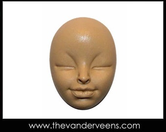 Mold No.215 (Face-African looking with closed eyes) by Veronica jeong