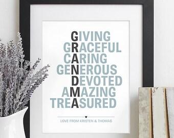 Christmas Gift for Grandparents Gift for Grandma Gift, Family Christmas Gift from Children Grandchildren, Grandparents Day