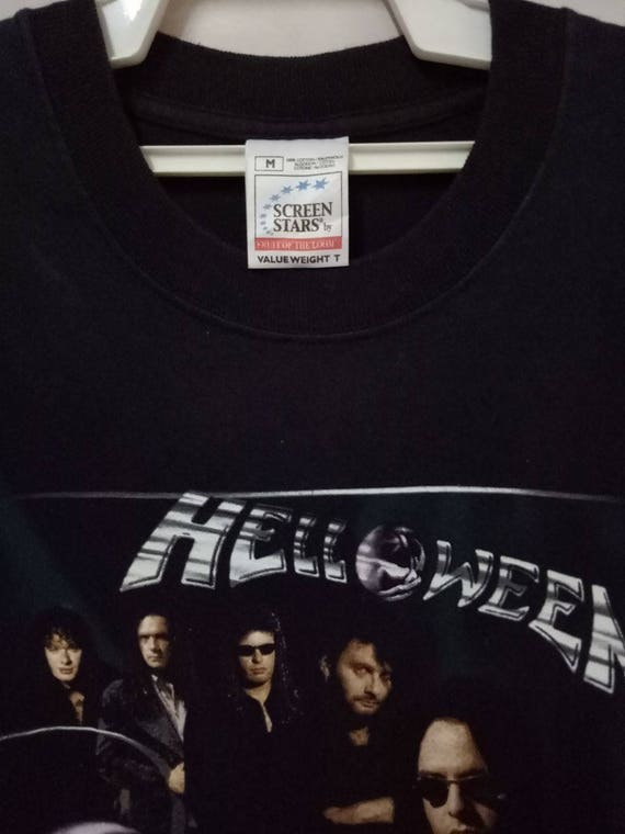 band tee power if HELLOWEEN tour fly world VINTAGE t Concert Promo German metal shirt could i OwfqdEnIEX