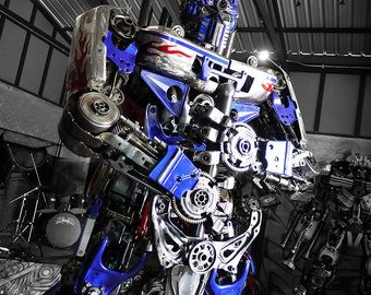 Recycled Metal Brave Giant Robot : Standing (made-to-order)