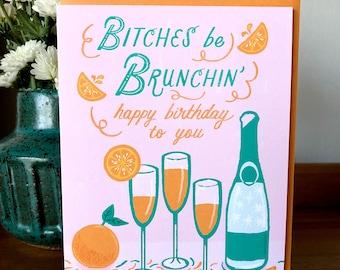 Brunchin' Birthday Card