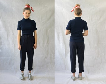 Classic Blue carrot Trousers
