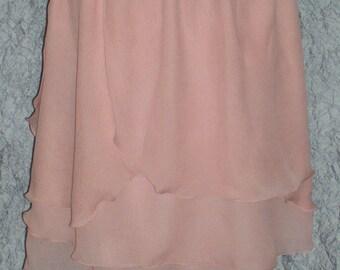 Spring Skirt Size Medium to Large Blush Peach Chiffon Skirt or Top