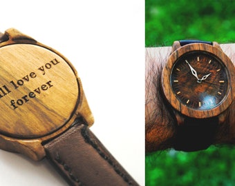 wood watch engraved wood watch engagement gift Mens Watch gift for men personalized gift Engrave wood watch watches wooden watch for man
