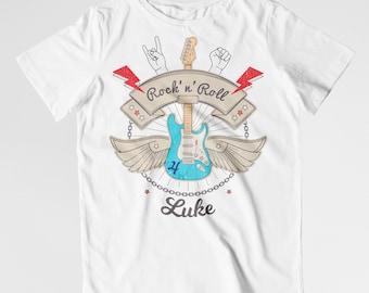 Guitar birthday shirt rock and roll birthday shirt rockstar birthday shirt
