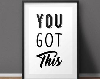 Inspirational print, Girl boss print, Housewarming gift, Typography Print, Friendship print, Wall Art, Motivational poster, Wall decor