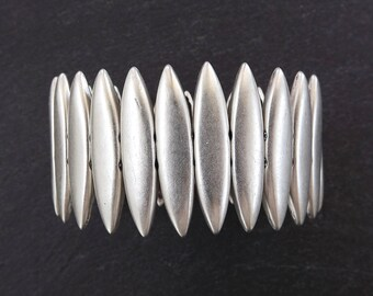 Elips Stretchy Silver Statement Bracelet - Authentic Turkish Style