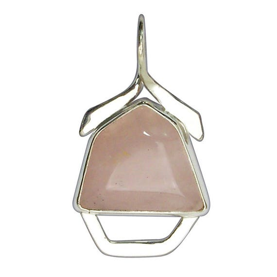 Rose Quartz and Sterling Silver Pendant, prqf2852