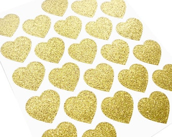 Glitter Heart Sticker Seals | Heart Stickers | Glitter Stickers | Glitter Heart Stickers | Envelope Seals | Sticker Seals | Set of 25