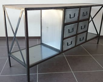 Industrial cabinet with 6 drawers