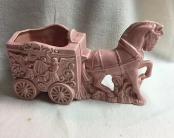 Pink Horse Circus Cart Garden Planter (#002)