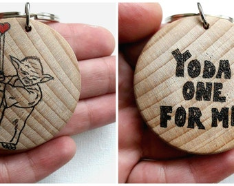 Yoda One For Me, Valentines Day Gift, Boyfriend Gift, Girlfriend Gift, You're my Valentine, Gift for Husband, Gift for Wife, Stars Wars Gift