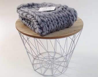 GREY MERINO BLANKET