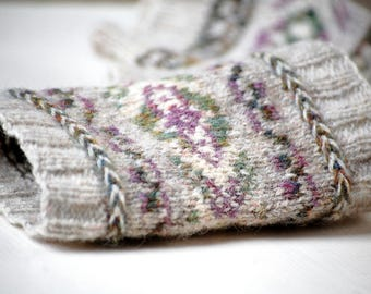 PDF Knitting Pattern Fair Isle Cuffs Latvian Braid