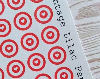 60 Target Love Planner Stickers