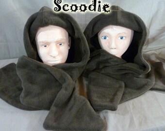 Dark brown scoodie
