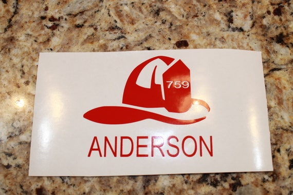 Firefighter, Helmet decal, yeti decal, cup decal, rambler decal, fireman decal, fireman decals, firefighter yeti, personalized,vinyl sticker