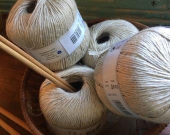 Yarn Geodifra Korella Linen Flax Made in Romania Coats GmbH Four Skeins