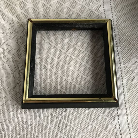 Picture Frames / Vintage Black and Gold Wood Frames / Six Available ...