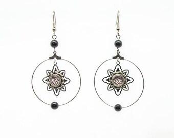 Sunny earrings black agate