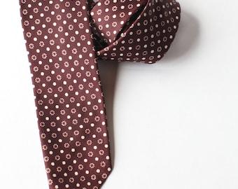 Men's Brown Skinny Tie