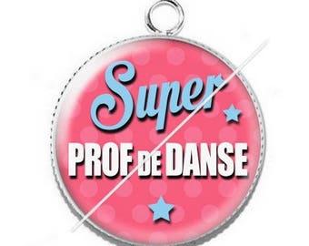 Pendant cabochon resin for a dance teacher 1