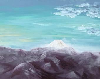 Fine Art Print Greeting Card - Impression of Mt. Fuji