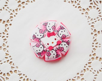 Hello cat Hello kitty hair bow Hello kitty gift Hello kitty bow Girls hair bow Boutique bow Hello kitty birthday Kitty bow Hello kitty party