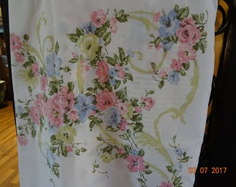 2 vintage standard pillowcases circa 1960's and 1970's