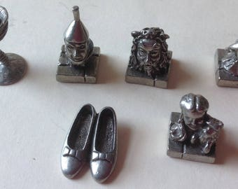 Pewter Wizard of Oz  game pieces