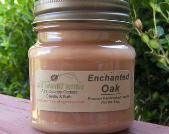 ENCHANTED OAK CANDLE, Oak Candles, Woodsy Candles, Spice Candles, Strong Candles, Scented Candles, Fall Candles Autumn Candles Men's Candles
