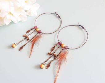"""Earrings """"Isabella"""" vintage hoop earrings"""