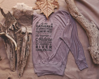 The Gatherer Flowy Long Sleeve Shirt - Womens