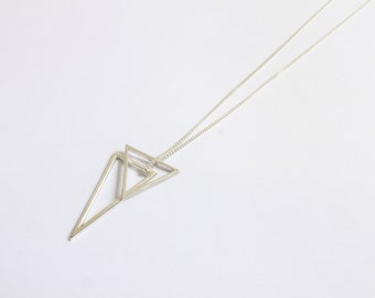 Sterling Silver Triangle Stacker Necklace