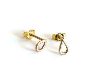 DROP ear Mini - 8karat gold ear studs