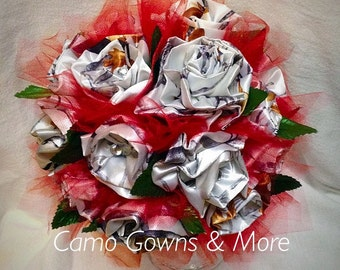 Camo Bridal Bouquet
