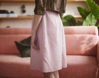 Pink High Waist Cotton Skirt
